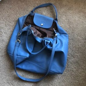 Longchamp medium sized blue bag